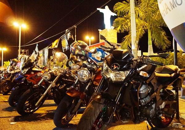 Motociclistas de todas as regiões do Brasil participaram da primeira noite do evento