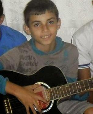 O pequeno Thiago Luis de apenas 12 anos faleceu no local do acidente.