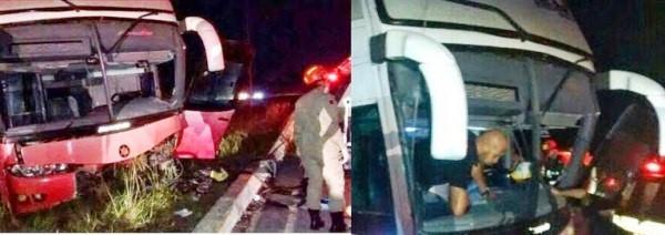 Motorista ficou preso entre às ferragens.