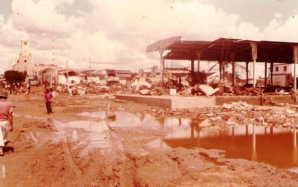Santa Cruz ficou devastada com a força das águas.