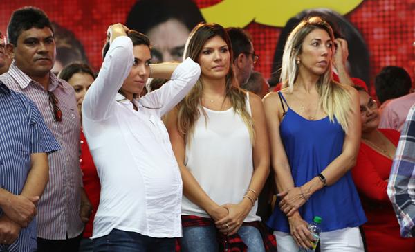 Patrícia Abravanel esteve em convenção no RN, mas passou despercebida (Foto: Márlio Forte).