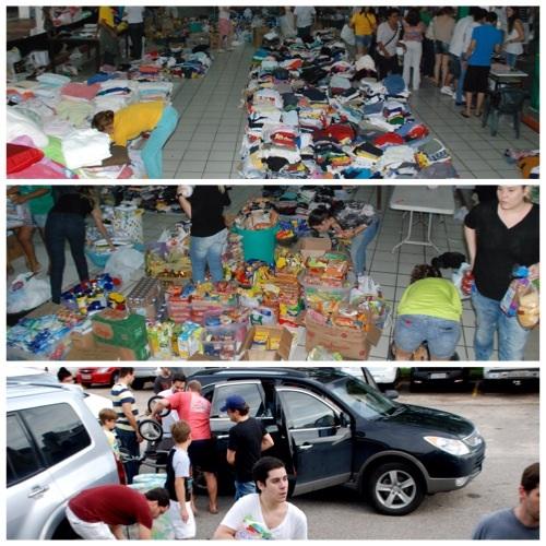 Em estado de alerta, população natalense e de cidades circunvizinhas se solidarizam com os potiguares desabrigados pela chuva.