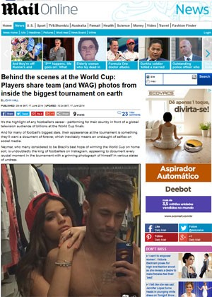 """Neymar tem realizados constantes fotos de """"selfie""""  nas redes sociais (Foto: G1)."""