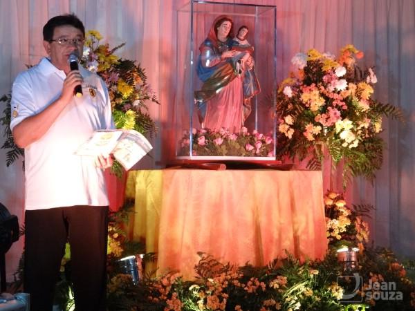 O pároco de Sant'Ana, Welson Rodrigues, apresentou as comemorações em alusão ao festejo da padroeira municipal.