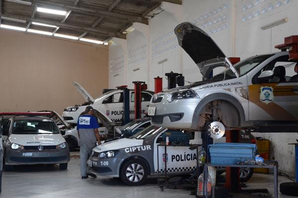 Além das viatura, mais 60 motos BMW estão paradas a espera de revisão.