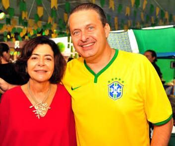 Ana ao lado do filho Eduardo Campos.