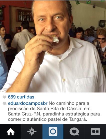 Eduardo Campos fez questão de enfatizar a fama do Pastel de Tangará.