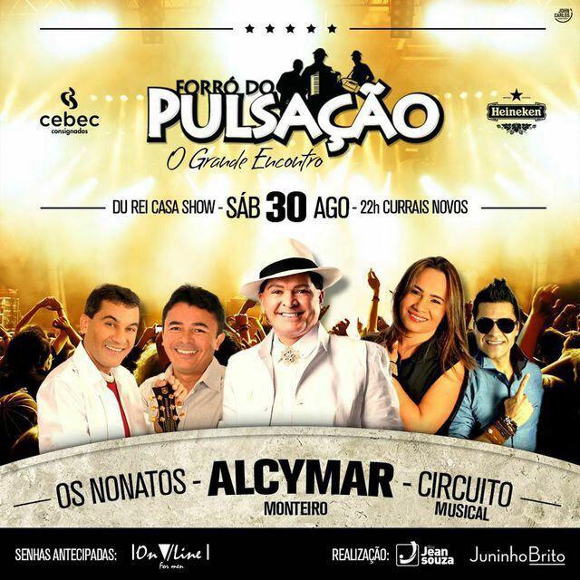 Iniciada venda de ingressos para Forró do Pulsação Especial de Agosto