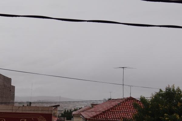 Céu nublado em Currais Novos.