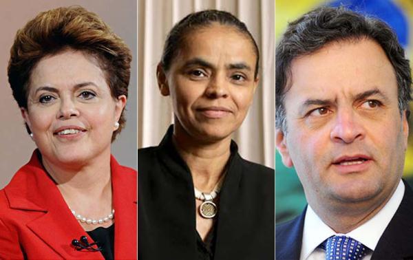 Dilma se mantém na frente no primeiro turno.