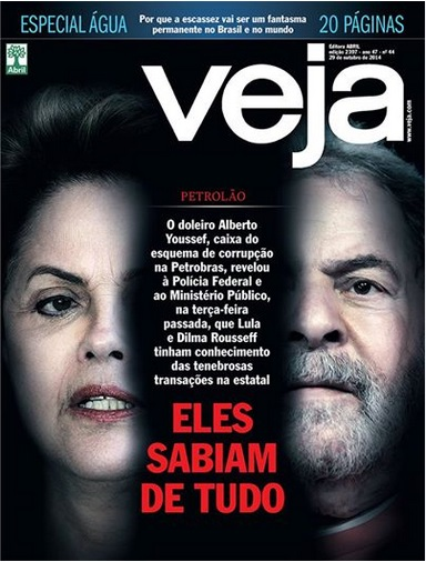 Veja traz matéria bombástica em que doleiro afirma que Lula e Dilma sabiam de todo o esquema do petrolão