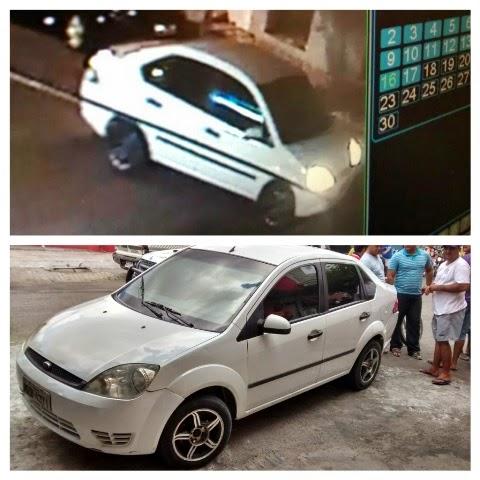 O veículo usado no crime foi reconhecido por testemunhas.