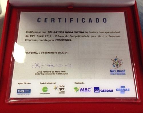 Certificado Del Rayssa, MPE Brasil.