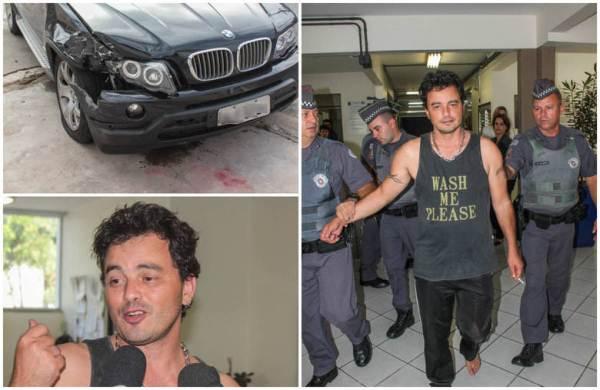 Descalço, Renner chegou à delegacia na manhã desta sexta-feira (26), na zona sul de São Paulo. Foi constatado que o músico dirigia embriagado.