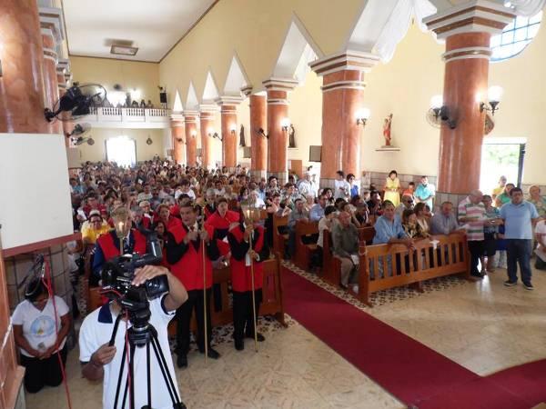 Seminaristas, padres, prefeito e vereadores de Currais Novos, membros da comunidade curraisnovense e demais religiosos participaram da celebração.