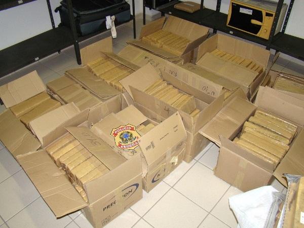 Quase meia tonelada de maconha é apreendida pela PF neste domingo; a maior de 2015 no RN