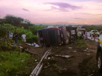 O ônibus saia de Fortaleza em direção ao Piauí.