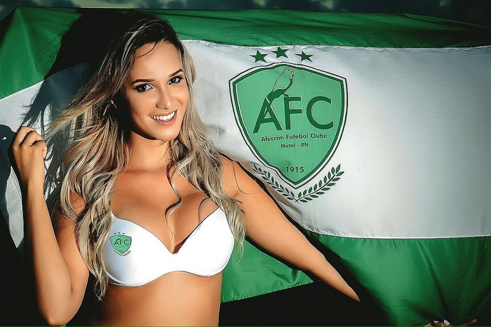 Fernanda Medeiros - musa do Alecrim (Foto: Hallyson Bysmarck).