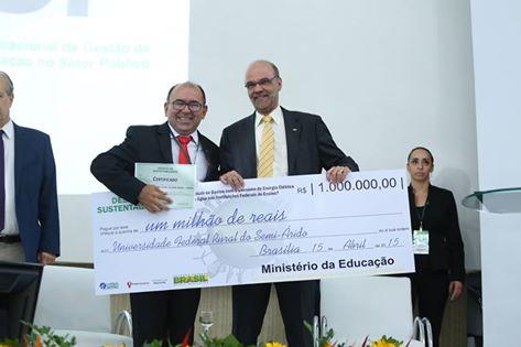 Ufersa recebe prêmio por 2º lugar no Desafio da Sustentabilidade