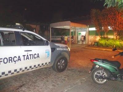 O crime ocorreu no estacionamento da Emergência do Hospital.