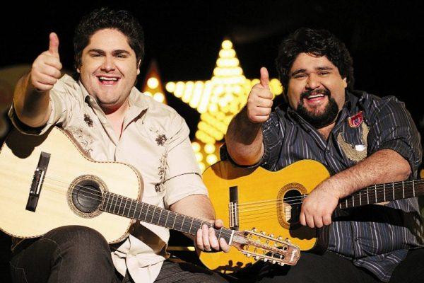 César Menotti e Fabiano no sábado de Vaquejada em Currais Novos