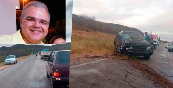 Dr. Nicholas sofre acidente entre Currais Novos e São Vicente
