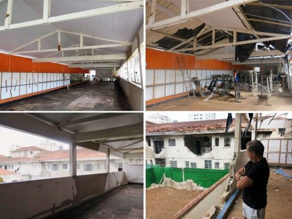 Em fevereiro deste ano, Juarez já havia conseguido reformar parte do salão superior (Foto: Orion Pires/G1).