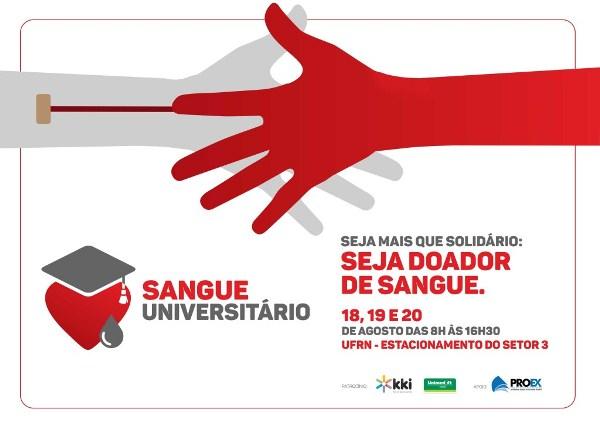 Universitários promovem doação de sangue na UFRN