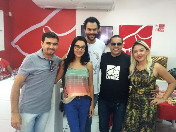 Equipe da Ótica Diniz e Jean Souza (Pulsação e blog JeanSouza), a parceria que deu certo.