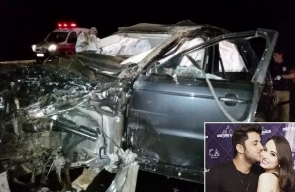 Solda na roda se rompeu e fez carro de Cristiano Araújo capotar, diz laudo