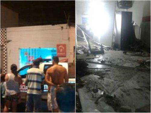 Grupos assaltam bancos e Correios na PB; bandidos ferem PM com tiro