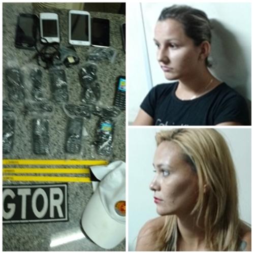 Duas mulheres e um menor de Parelhas foram detidos pela PM na posse de celulares e drogas
