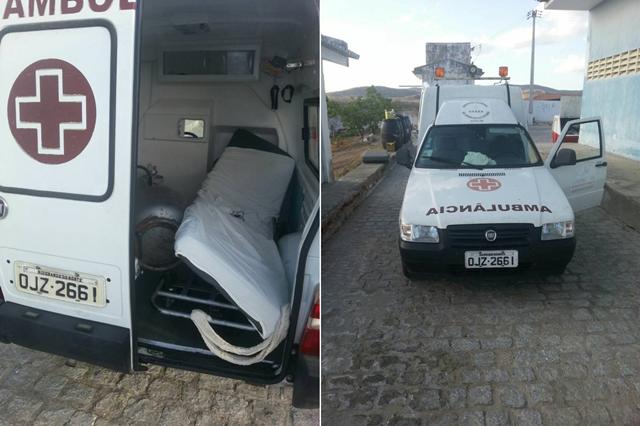 Em Acari, ambulância de Hospital Regional é flagrada transportando botijão de gás