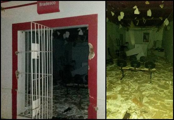ROTINA: Bandidos explodem caixa eletrônico em Coronel Ezequiel