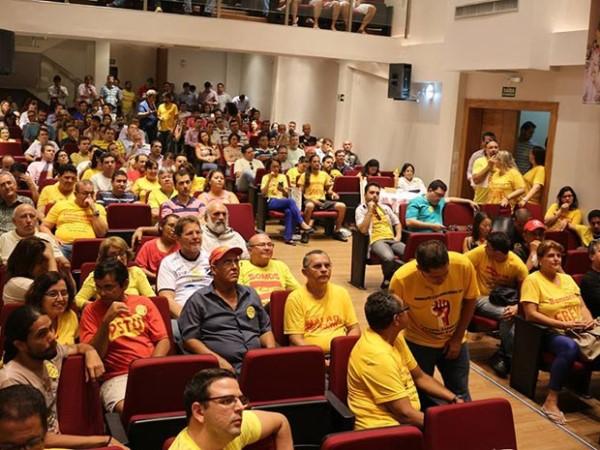 Assembleia aconteceu nesta terça-feira (Foto: Divulgação/Sindicato dos Bancários do RN)