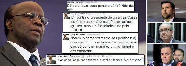 Joaquim Barbosa detona PSDB nas redes sociais