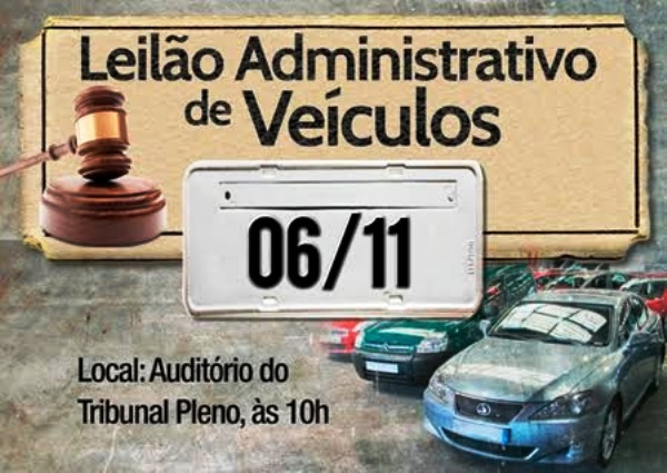TRT-RN realizará Leilão Administrativo de Veículos