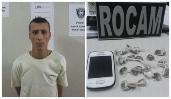 Acusado de tráfico de drogas é preso no Centro de Santa Cruz