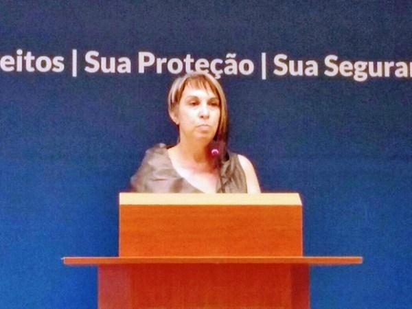 A secretária nacional de Segurança Pública, Regina Miki, divulga dados sobre a operação Brasil Integrado (Foto: Gustavo Garcia/G1)