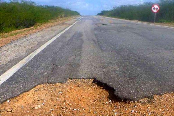 Rodovias estaduais que cruzam o Rio Grande do Norte são ruins ou péssimas, aponta pesquisa.