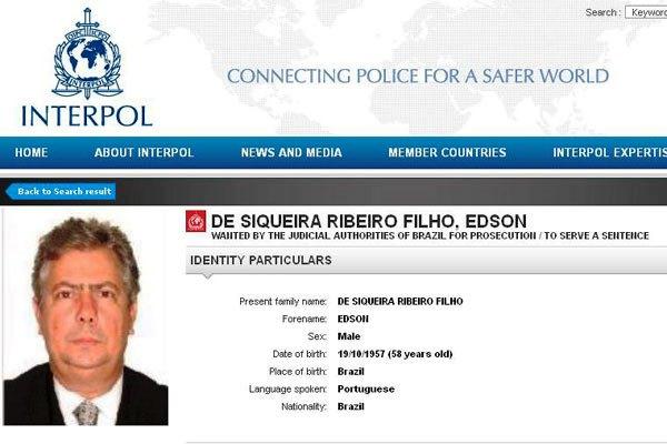 Advogado Edson Ribeiro estava na lista de procurados da Interpol.