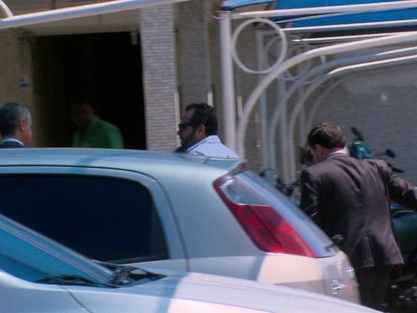Bruno Mousinho não falou com a imprensa. Entrou pelos fundos da sede da PF (Foto: Divulgação / TV Globo)