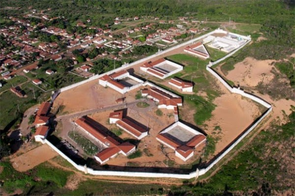 Penitenciária de Alcaçuz, maior unidade prisional do Rio Grande do Norte (Foto: Canindé Soares/G1)