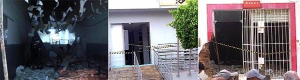 Agências do Banco do Brasil e Bradesco foram alvos dos criminosos (Foto: Jackson Félix / O Paralelo)