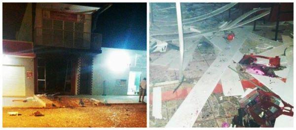 Quadrilha explode agência dos Correios e Bradesco em São Rafael