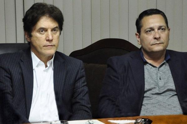 Governador Robinson e o presidente da Assembleia Legislativa, Ezequiel Ferreira.