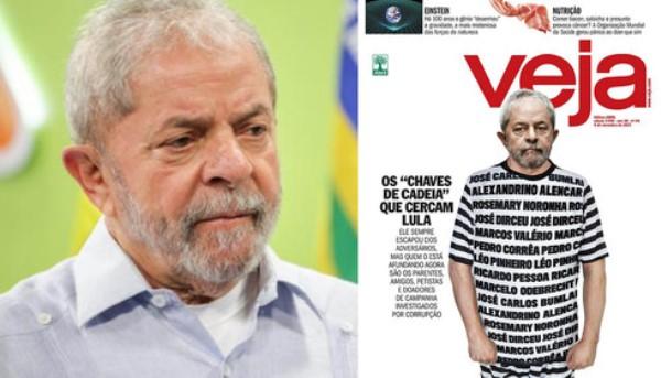 Lula vai à Justiça contra capa da revista Veja