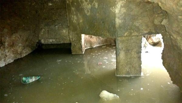 'Caverna' foi escavada sob o piso de um dos pavilhões da Cadeia Pública de Nova Cruz, na região Agreste potiguar (Foto: G1/RN)