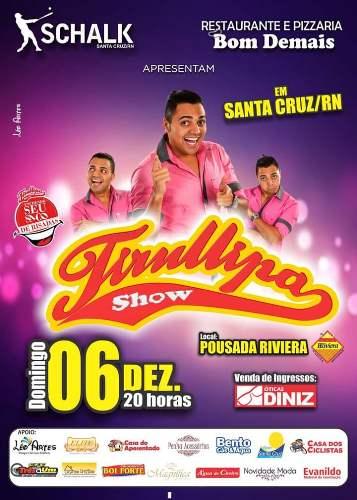 Santa Cruz recebe neste domingo o melhor show de humor do Brasil, Tirullipa, direto do Domingão do Faustão