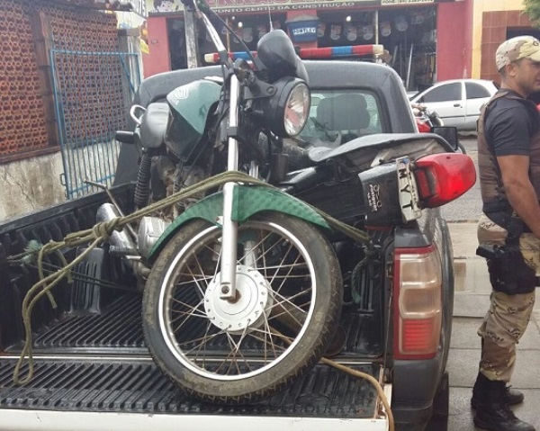 PM recupera motocicleta roubada em João Câmara